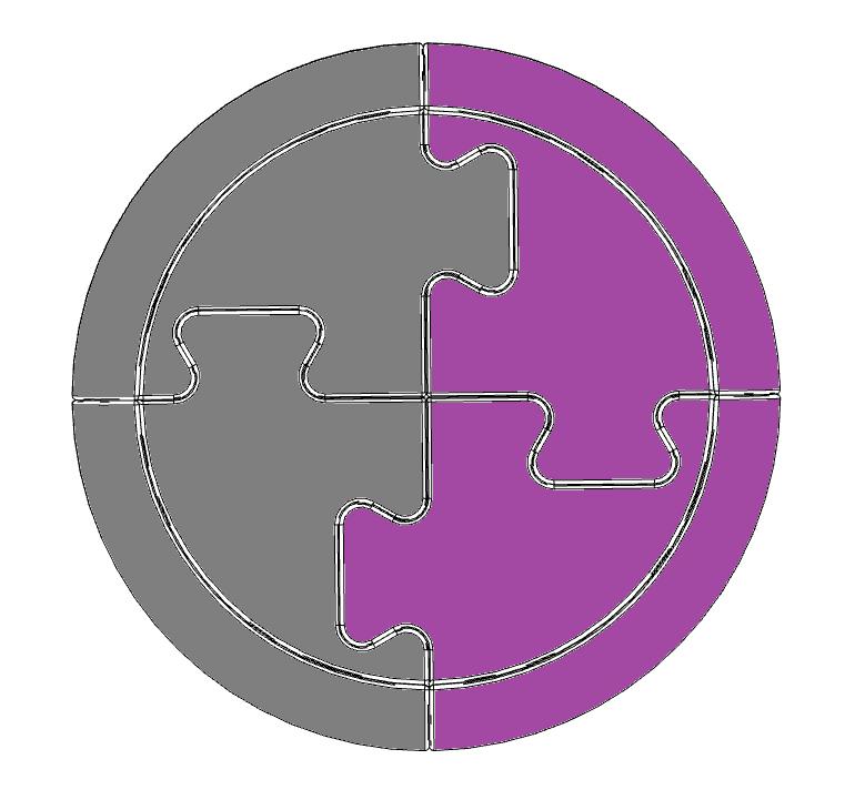Strip Ball - anthracite/purple